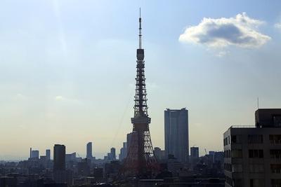 アクティ汐留から見た東京タワー