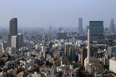 恵比寿ガーデンプレイスから見た渋谷