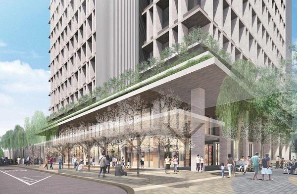 立石駅北口地区第一種市街地再開発事業 東街区・建物低層部