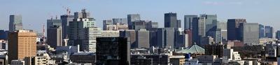神楽坂アインスタワーから見た東京駅周辺の超高層ビル群