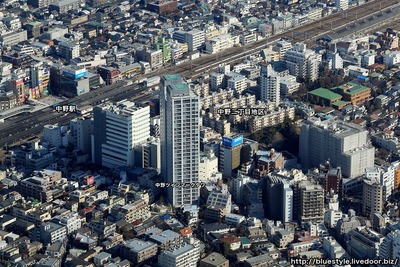 中野二丁目地区の空撮