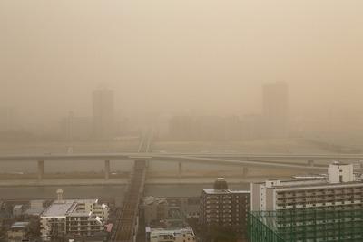 タワーマンションから見る煙霧