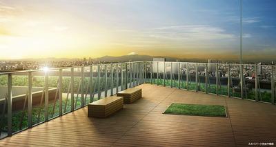プライムパークス品川シーサイド ザ・タワー スカイパーク完成予想図