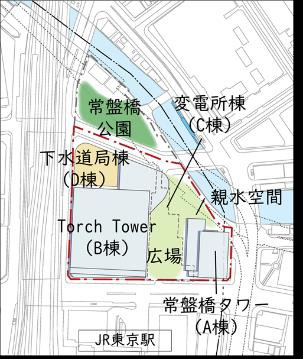 TOKYO TORCH 整備後配置図