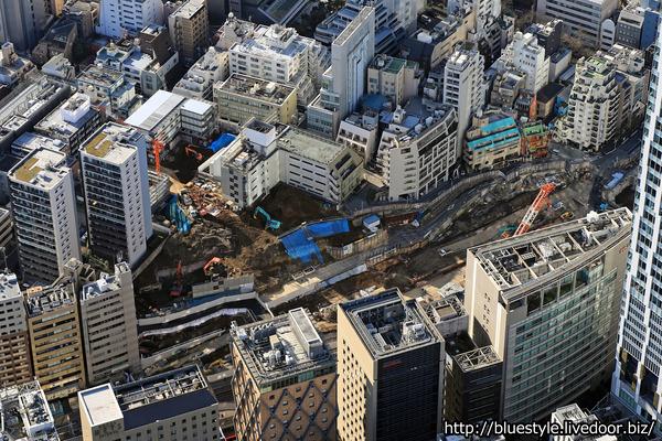 (仮称)渋谷駅桜丘口地区第一種再開発事業の空撮