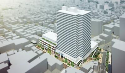 川口栄町3丁目銀座地区第一種市街地再開発事業 完成イメージ