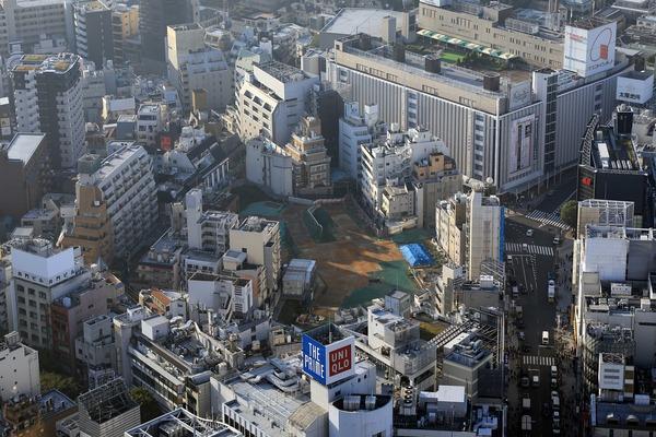 渋谷スカイから見た(仮称)渋谷区道玄坂二丁目開発計画