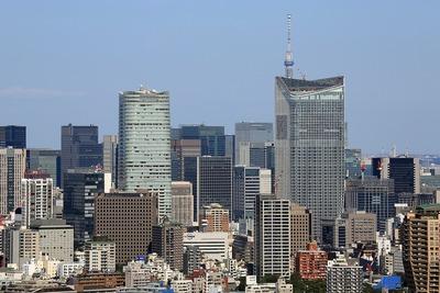 恵比寿ガーデンプレイスタワーから見た虎ノ門ヒルズ