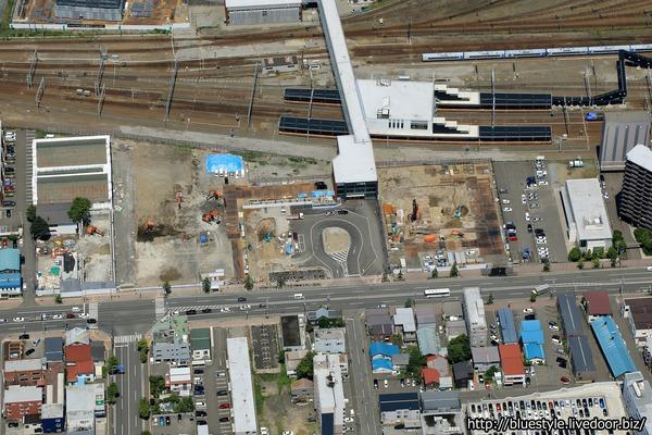 北3東11周辺地区第一種市街地再開発事業の空撮