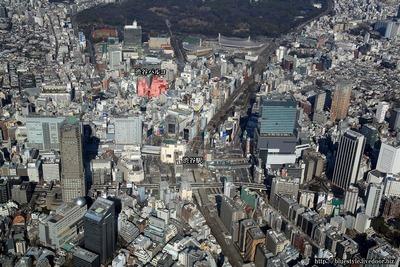 渋谷パルコの空撮