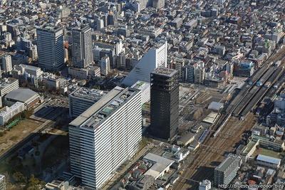 中野駅前の空撮