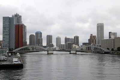 築地大橋から見た勝鬨橋