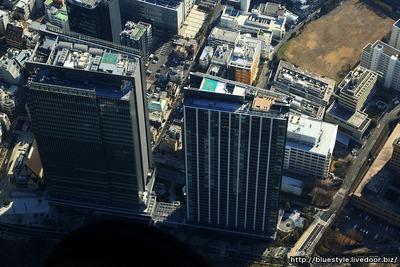 飯田橋サクラパークと朝鮮総連の空撮