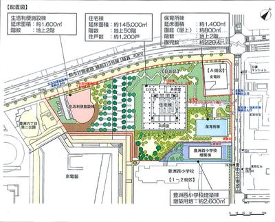 豊洲地区1-1街区 配置図