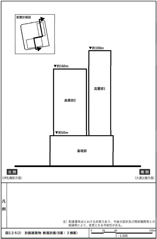札幌駅南口北4西3地区第一種市街地再開発事業 B案