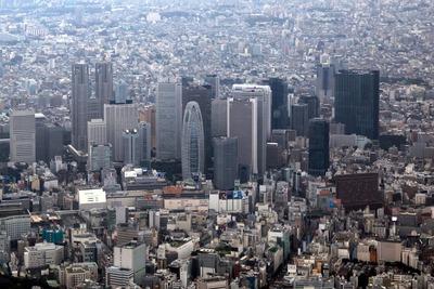 新宿超高層ビル群の空撮(ラ・トゥール新宿グランドの空撮)