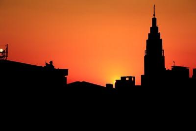 国立競技場から見た夕景
