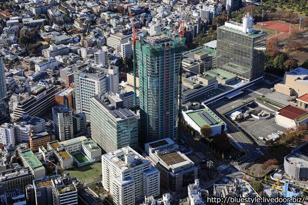 パークコート渋谷 ザ タワーの空撮