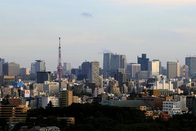 北とぴあから見た東京タワー方面