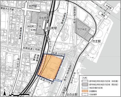 (仮称)芝浦一丁目計画 位置図