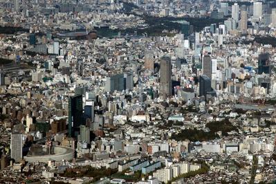 空撮 渋谷超高層ビル群