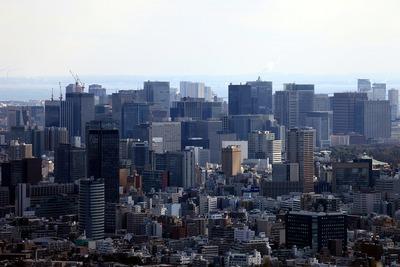サンシャイン60から見る東京駅周辺の超高層ビル群