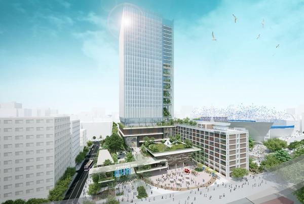 横浜市現市庁舎街区活用事業 完成イメージ図