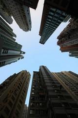香港超高層マンション街