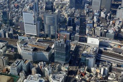 新宿駅新南口ビル(仮称)の空撮