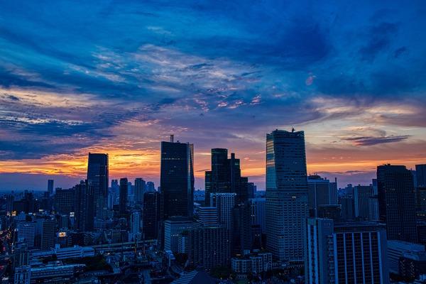 東京タワーからの夕焼け