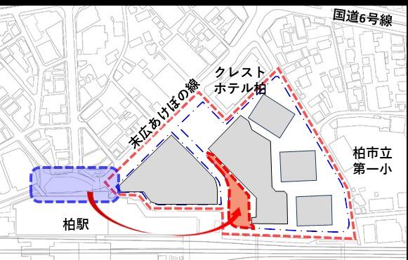 柏駅西口北地区市街地再開発事業 配置図