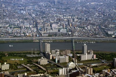 東大島・船堀駅周辺の空撮