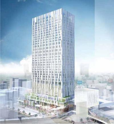 (仮称)渋谷駅南街区プロジェクト B-1棟 完成予想図