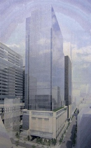 (仮称)日本橋本町二丁目特定街区開発計画の完成予想図