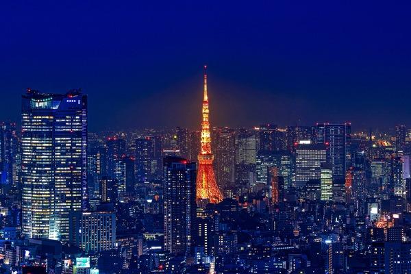 渋谷スカイから東京タワー夜景
