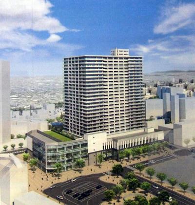 浦和西口南高砂地区再開発ビルの完成イメージ