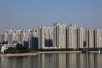 中国広州の超高層団地