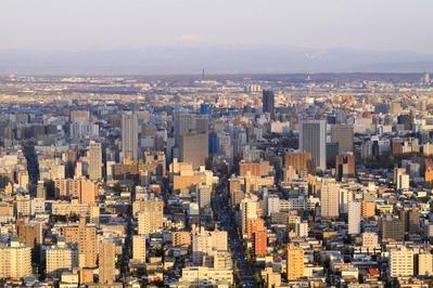 円山から中島公園方面の眺め