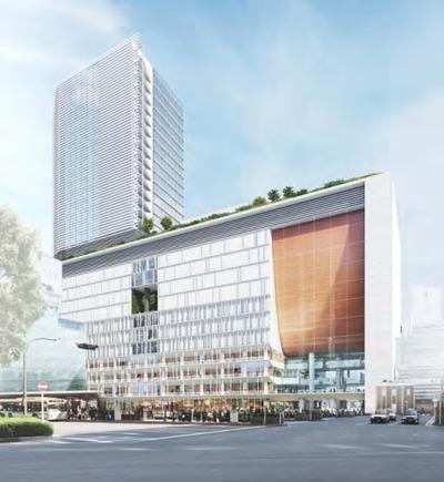 (仮称)横浜駅西口駅ビル計画の完成予想図