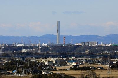 大洗マリンタワーから見たG1TOWER
