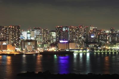 フジテレビから港南のタワーマンション群の夜景