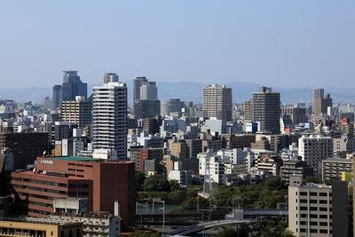 I大阪城から南森町・東天満方面の眺め