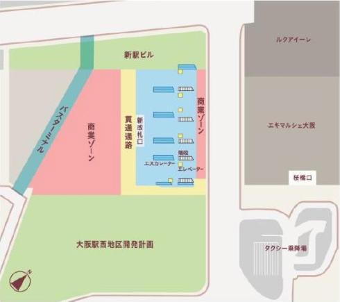 大阪駅西高架エリア開発 1階・平面イメージ