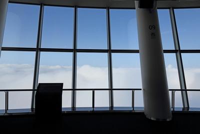 東京スカイツリーの天望デッキから見た雲海