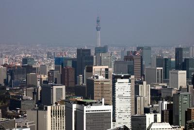 六本木ヒルズから東京超高層ビル群と東京スカイツリー