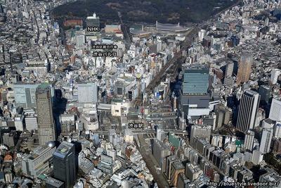 渋谷の空撮