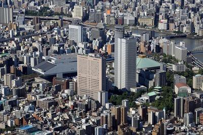 東京スカイツリーから見た両国方面