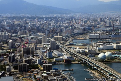 福岡の空撮