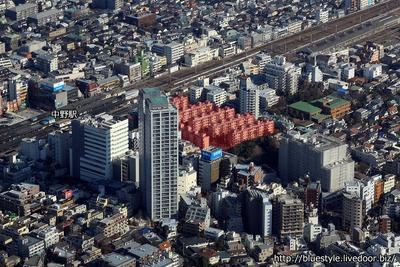中野二丁目地区第一種市街地再開発事業の空撮