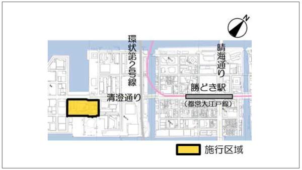 豊海地区第一種市街地再開発事業 位置図